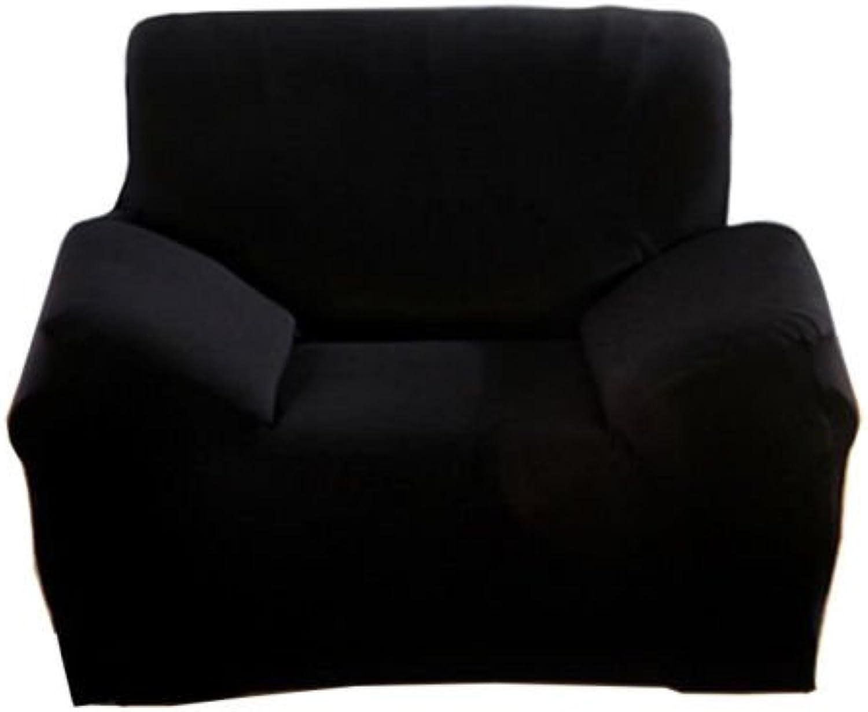SavingPlus - Funda elástica para sofá (Tejido elástico), Color Negro