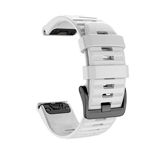 JWWLLT Correa 26 22 20 mm, Adecuada para Garmin Fenix  6X 6 6S Pro 5S Plus 935 3 HR Watch Reloj DE LIBERACIÓN RÁPIDA Silicona EASYFIT Mujer (Color : White, Size : 20mm Fenix 6S Pro)