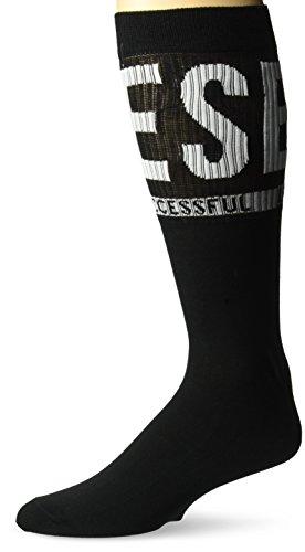 Diesel Herren Ray Logo Legere Socken, schwarz, Medium