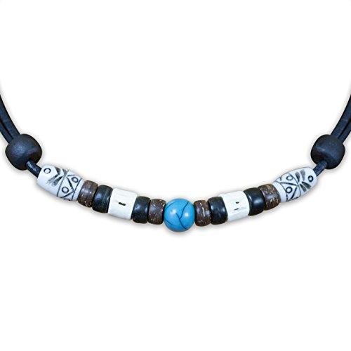 HANA LIMA ® Lederkette ohne Anhänger Herren Damen Halskette Leder Surferkette