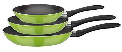 GSW Pfannen-Set Nova 3-TLG. grün, Aluminium, Kunststoff