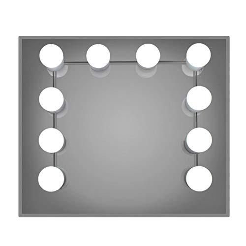Leezo LED-Lichter-Set mit 10 dimmbaren LED-Leuchtmitteln, USB-betrieben, für Badezimmer, Make-up, Schminktisch (Spiegel nicht im Lieferumfang enthalten)
