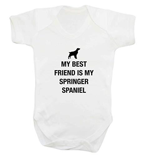 Flox Creative Baby Vest Best Friend Springer Spaniel - Blanc - XS