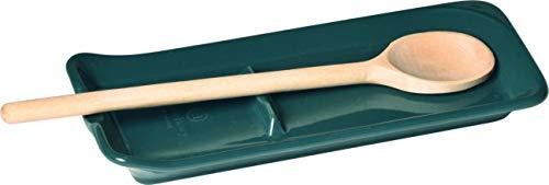 Emile Henry - Bandeja para Cuchara de Cocina (1 Unidad, cerámica), Color Azul