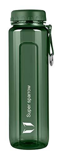 Super Sparrow Trinkflasche - BPA-frei Tritan Wasserflasche, Weithalsflasche Sportflasche - 500ml/750ml/1000ml - Für Sport, Camping, Fitnessstudio, Fitness, Outdoor
