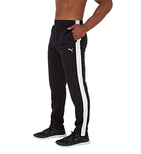 PUMA Men's Contrast Pants, Puma Black Puma White