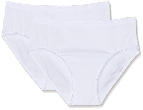 Dim Culotte Maxi Coton Plus X2 Braguita, Blanco (Blanc 0hy), 40 (Talla...