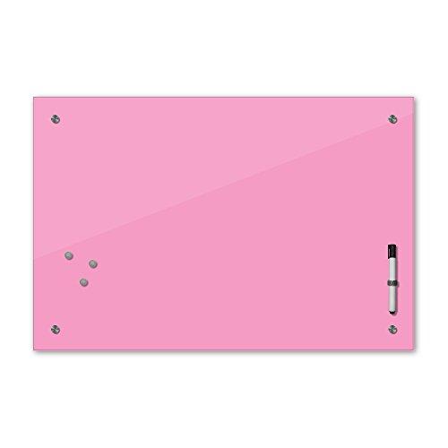 Bilderdepot24 Memoboard - 60 x 40 cm, 24 Farben - rosa - Hellrosa - Glas - Glasboard - Glastafel - Magnetwand - Pinnwand - Mehrzwecktafel Farbton - Grundfarbe - einfarbige Schreibtafel
