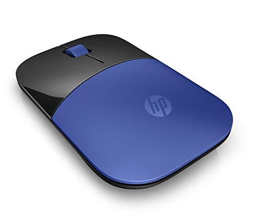HP Z3700 (V0L81AA) kabellose Maus (1200 optische Sensoren, bis zu 16 Monate Batterielaufzeit, USB Anschluss, Plug&Play) blau