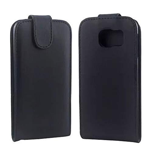 ZAORUN Cubiertas Protectoras de Cellphone Compatible para Samsung Galaxy S6 / G920 Funda de Cuero con Broche magnético con Tapa Vertical (Color : Black)