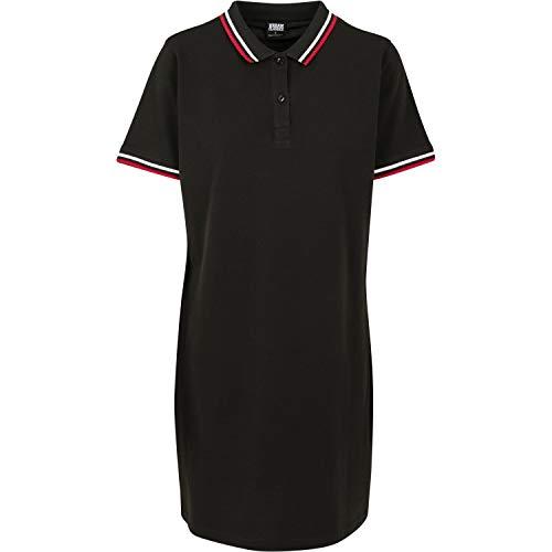 Urban Classics Ladies Polo Dress Vestido, Negro (Black 00007), 42 (Talla del Fabricante: Large) para Mujer