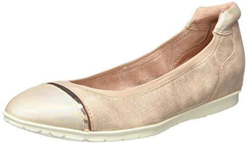 Tamaris Damen 1-1-22109-24 Geschlossene Ballerinas, Pink (Rose Comb 596), 39 EU