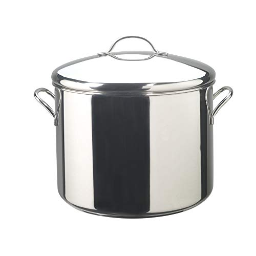 Farberware Classic Stainless Steel Stock Pot/Stockpot with Lid - 16 Quart, Silver