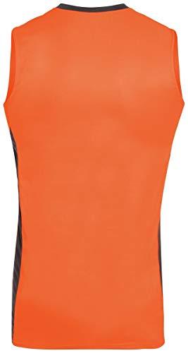 Augusta Sportswear Youth Block Out Jersey S Power Orange/Slate