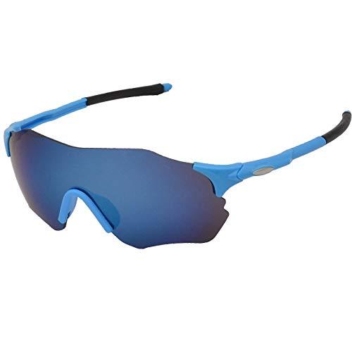 Gafas De Sol Polarizadas para Hombres Gafas De Sol Deportivas Antideslumbrantes Sin Montura Lente Azul Gafas De Sol Gafas De Ciclismo para Exteriores Gafas Deportivas De Conducción Gafas De