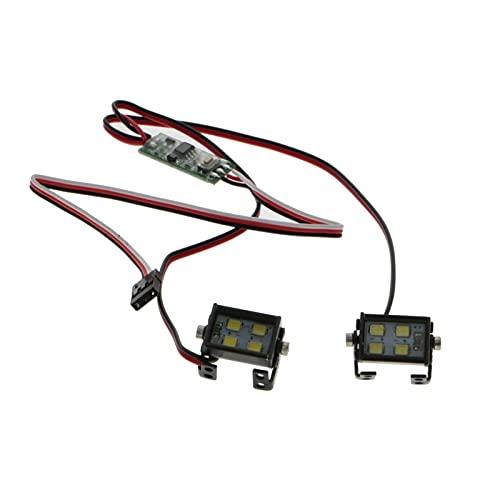 LMIAOM 1 par RC Modelo faros de LED Focos de 1/10 RC orugas Off-Road TRX4 axial SCX10 RC4WD D90 TF2 Piezas de montaje de accesorios de bricolaje