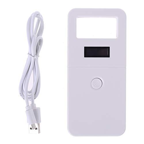 aoixbcuroc Mikrochip-Lesegerät RFID, FDX-B Tier-ID-Reader Chip Transponder USB RFID Handheld Microchip Scanner für Hunde Katzen Pferd