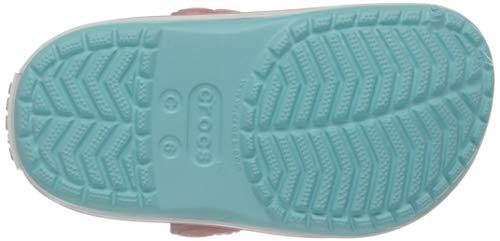 Crocs Crocband Clog Kids Unisex Niños Zuecos, Azul (Ice Azul/White), 34/35 EU