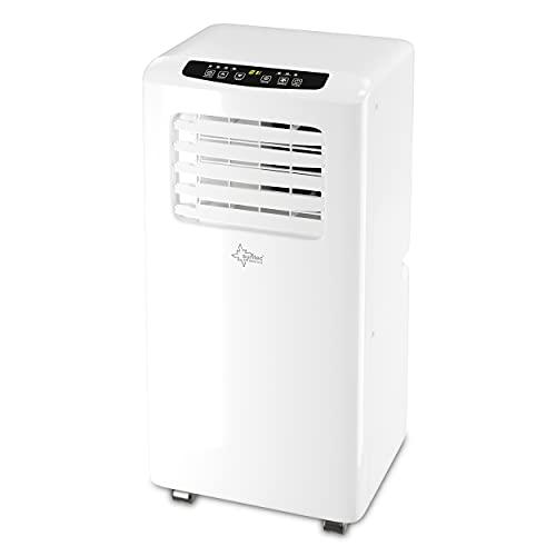 Mobiles lokales Klimagerät Impuls 2.0 Eco R290 | für Räume bis 60 m3 (25 m2) | inkl. Abluftschlauch | Kühler und Entfeuchter mit ökologischem Kühlmittel R290 | 7.000 BTU/h | Suntec Wellness