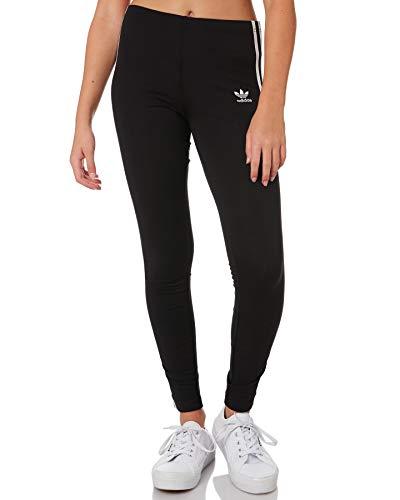 adidas 3stripes Leggings, Unisex Kinder L schwarz/weiß