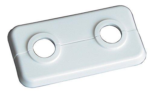 WIROFLEX | Doppel-Klapprosette | 16 mm | 2er-Set | Rosette | Klapprosette | Weiß