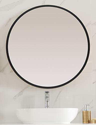 Homefeeling Premium Spiegel Rund 50cm - vielseitig Einsetzbar Dank schönem Design - Eleganter runder Spiegel mit einfache Montage - Wandspiegel Rund…