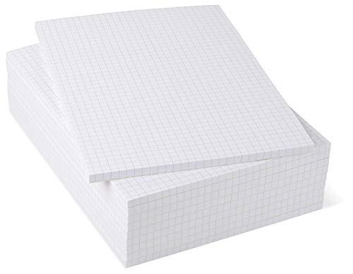 Notizblöcke DIN A5 kariert, 10er Pack, 50 Blatt je Block, 80 g/m² Offset weiß, notizblock24
