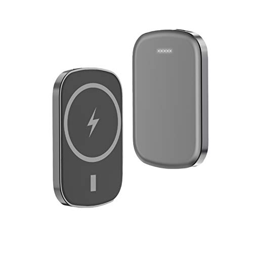Mag-Safe Wireless Magnetic Power Bank 10000Mah Drahtloses Ladegerät für Iphone 12 12 Pro Max 12 Mini 15W Qi Schnellladung Tragbarer Externer Akku (grau 10000mAh)