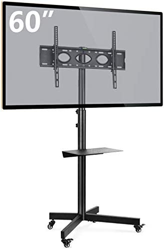 Rfiver Mobile TV Cart with Wheels Portable for 32 60 Inch LCD LED Plasma Flat Screen TVs Monitors product image