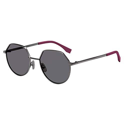 FENDI FF M0029/S QT Brille, DKRUTH Black/GY Grey, 54 Herren