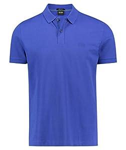 BOSS Herren Piro Poloshirt, Blau (Open Blue 462), Small (Herstellergröße: S)
