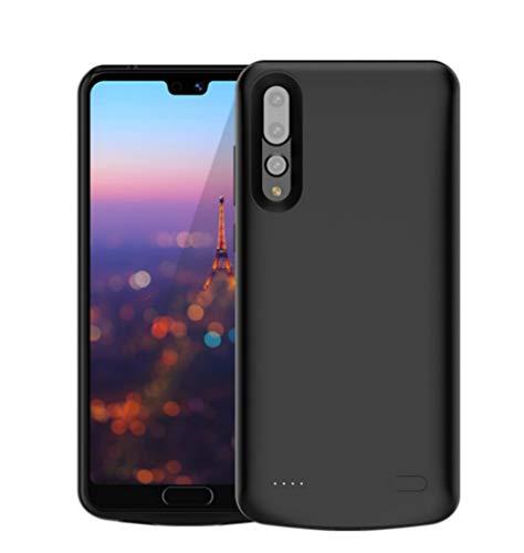 Fey-EU Funda Batería para Huawei P20 Pro, 6000mAh Funda Cargador Portatil Batería Externa Ultra Carcasa Batería Recargable Power Bank Case para Huawei P20 Pro, Negro