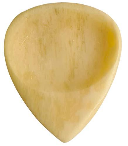 Maybach Guitars Cream Bone Guitar Pick : Luxus Gitarren Plektrum aus Knochen für E-Gitarre, E-Bass, Akustikgitarre, Ukulele und andere Zupfinstrumente