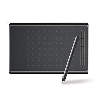 """SENZKON 8""""Drawing Tablet, Mobile Graphic Input Board For Drawing, Sketching And Photo Retouching, 8192 Level Pressure-free Pen, With 5 Hot Keys, For Windows 10/8/7, Mac Os And Android (8in, Red)"""