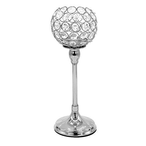 Candelabro de cristal, candelabros con luz de té de cristal, elegante regalo de San Valentín, candelabros de pilar alto para decoración del hogar, centros de mesa para bodas, regalo de inauguración