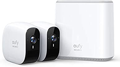 Wireless Home Security Camera System, eufy Security, eufyCam E 365-Day Battery Life, 1080p HD, IP65 Weatherproof, Night Vision, Compatible with Amazon Alexa, 2-Cam Kit, No Monthly Fee