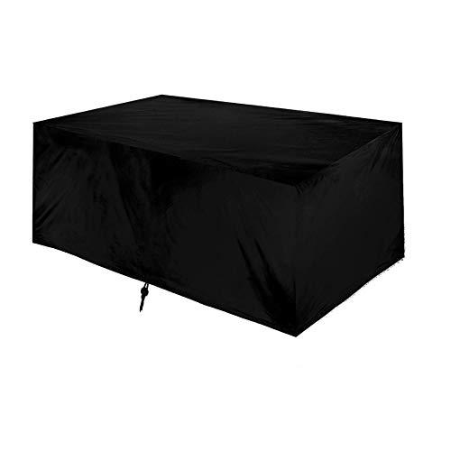 Fundas para muebles para exterior cuadrado, 80x80x120cm Funda para mesa de jardín, resistente, impermeable, para muebles de patio, rectangular, 210D, tela Oxford para juego de mesa y silla de pabelló