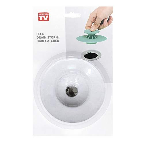 Mimiga Silikon Spülbecken Stopper Filter Ablassstopfen Reiniger Reinigungswerkzeug Wanne Ablassschraube Für Küchen Bäder Wäschereien… (Weiß)