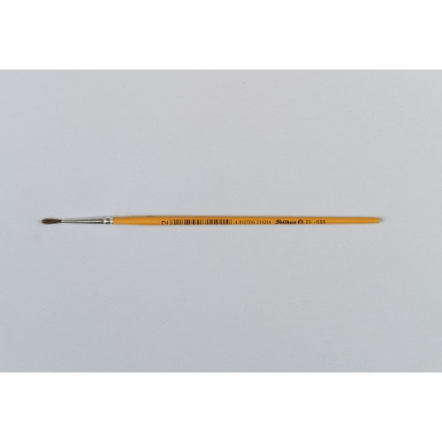 Pelikan 711010 pinceau d'artiste - Pinceaux d'artiste (Single brush, Brosse ronde, Crin de poney, Bois, Orange, Brosse ronde)