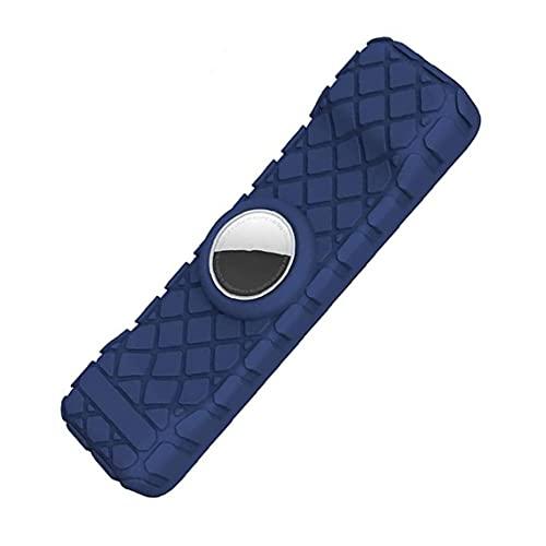RRunzfon Apple TV 4K, Controlador Anti-Shock Cubierta Protectora Antideslizante Azul Oscuro, Cubierta Protectora