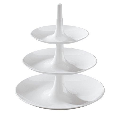 koziol 3180525 BABELL Etagere, Servierplatte, Serviertablett, Servierständer, Kuchen, CupCakes, Kunststoff
