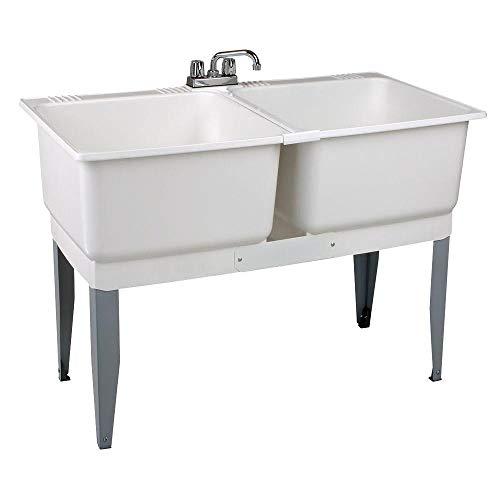 Mustee 24C Utilatwin Combo Laundry/Utility Tub Kit, White Idaho