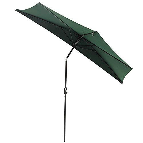 New UV blocking 10ft Half Umbrella Patio Outdoor Bistro Wall Balcony Wall Window Sun Shade Opt/ Green #351