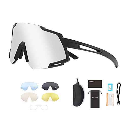 ZJJX Glof - Gafas de sol deportivas para bicicleta, con lente de repuesto
