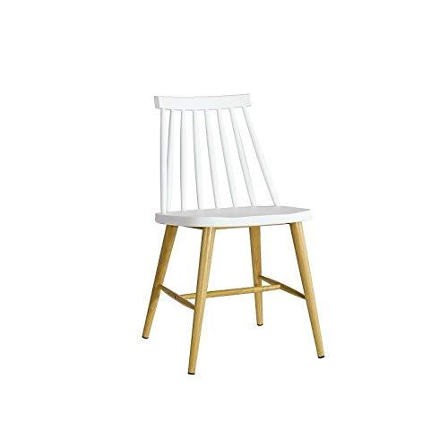 WHYNOTHOME WH5WH57.SCAMUSBL Pack de 2 sillas CAMUS, Estructura Metal, Blanca, 77 x 43 x 49 cm