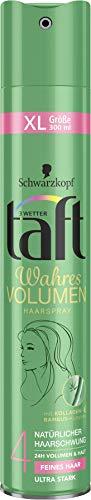Drei Wetter Taft Haarspray Wahres Volumen feines Haar ultra starker Halt 4, 6er Pack(6 x 300 ml)