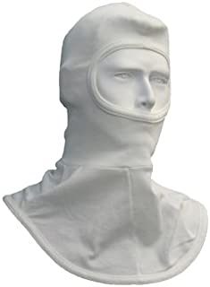 National Safety Apparel One Size Fits All White 6 Ounce Double Layer Nomex Modacrylic Arc Rated Flame Retardant Balaclava Hood Rated To 15 Cal/cm²