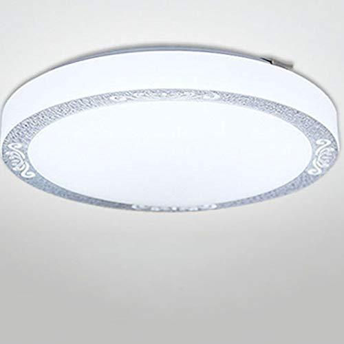 SAJDH Plafonnier LED Acrylique Chambre Balcon Allée Cuisine et Salle de Bains Aluminium Plafonnier Rond,Silver,35cm30w