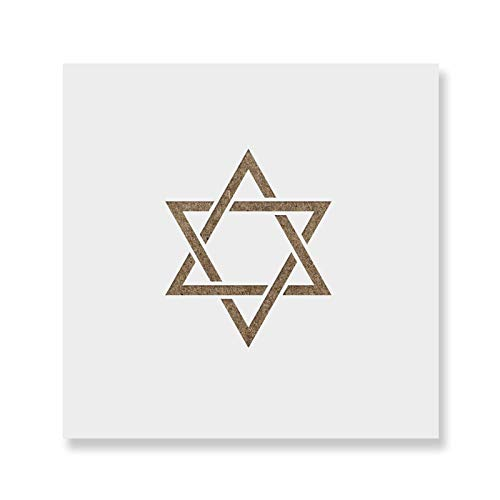 Hanukkah Star Cookie Stencil Template - Reusable & Durable Food Safe Stencils for Cookies and Baking