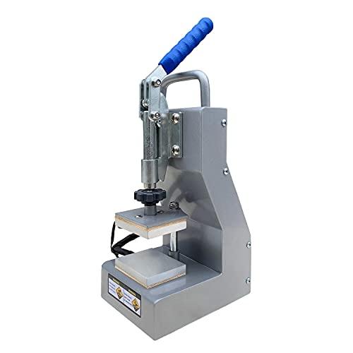 Dulytek DM800 Manual Heat Press Machine – 2.5″ x 3″ Dual Heat Plates – Precise Two-Channel Control Panel – Portable, Sturdy, Efficient – [Bonus Accessories Included]